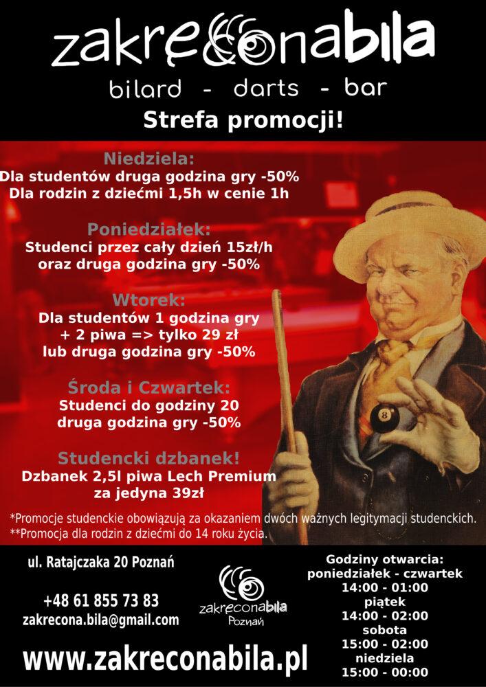 Nowe promocje dla Studentów w Zakręconej!